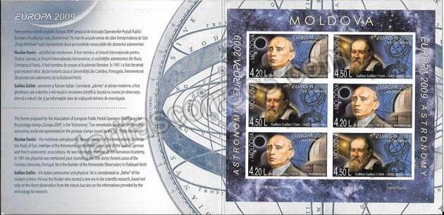 enviar paquetes desde - valor sellos Tema Europa Carnet-Moldavia la Astronomía