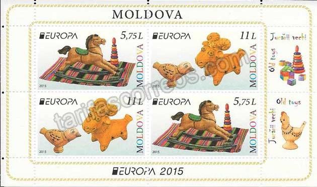 enviar paquetes desde - valor sellos Tema Europa-Carnet-Moldavia-2015-02