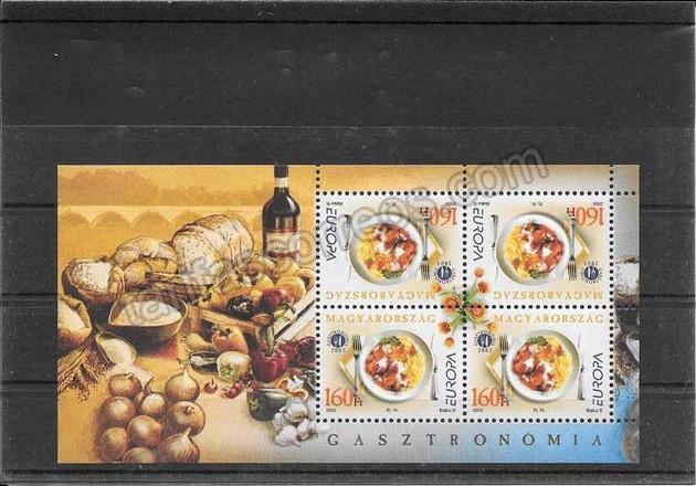 Filatelia sellos Tema Europa Hungría La Gastronomía