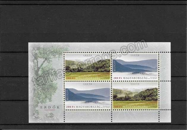 enviar paquetes desde - valor sellos Filatelia Tema Europa Hungría Los Bosques