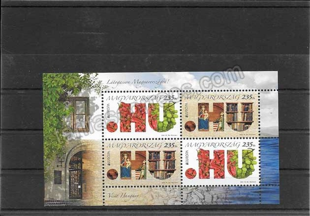 enviar paquetes desde - valor sellos Filatelia Tema Europa Hungría Turismo