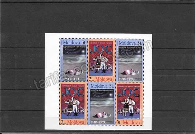 enviar paquetes desde - valor sellos Tema Europa Moldavia-2003-01