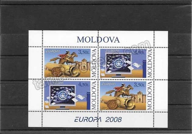 enviar paquetes desde - valor sellos Tema Europa Moldavia-2008-01