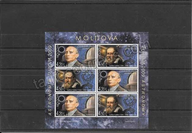 enviar paquetes desde - valor sellos Tema Europa Moldavia Astronomía