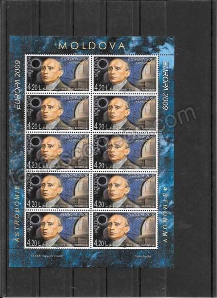enviar paquetes desde - valor sellos Tema Europa  2 Mini Pliegos Moldavia-2009-02