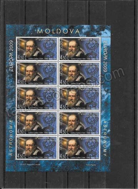 enviar paquetes desde - valor sellos-europa-moldavia-2009-03