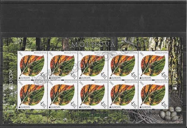 valor y precio Colección sellos Tema Europa Moldavia