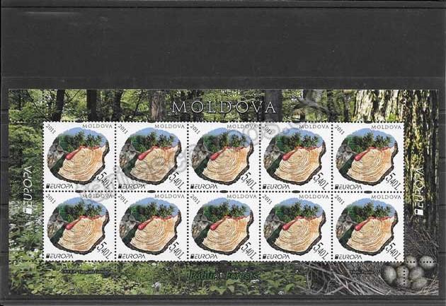 enviar paquetes desde - valor sellos Tema Europa-Moldavia-2011-03