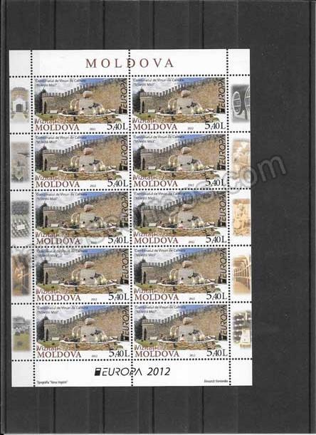 enviar paquetes desde - valor sellos-europa-moldavia-2012-04