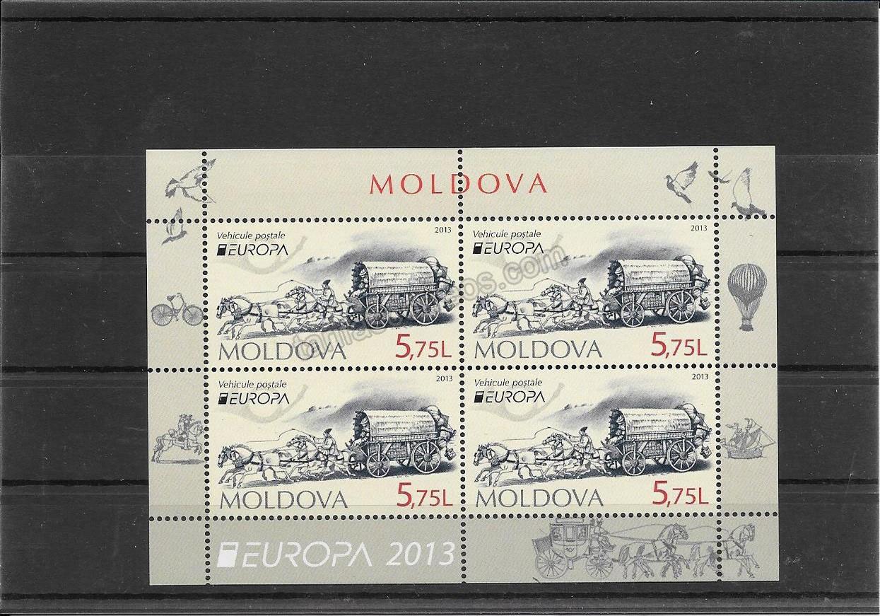 enviar paquetes desde - valor sellos-europa-moldavia-2013-02
