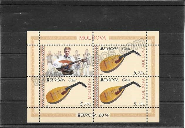 enviar paquetes desde - valor sellos Filatelia Tema Europa Moldavia Instrumentos Musicales