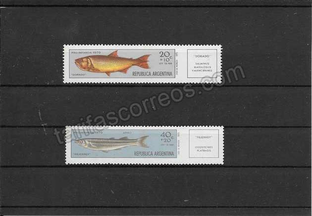 enviar paquetes desde - valor sellos fauna  peces Argentina