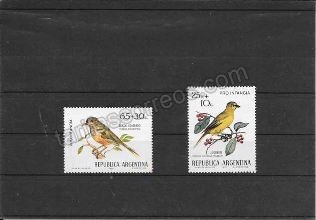 enviar paquetes desde - valor sellos fauna serie aves del país