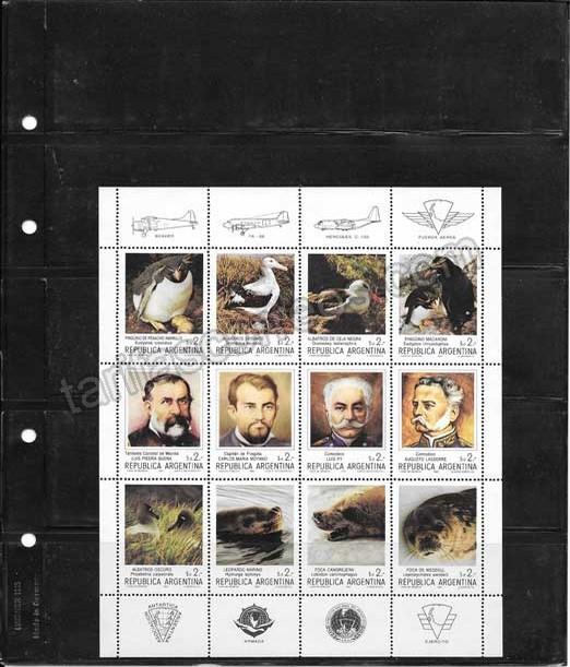 enviar paquetes desde - valor sellos  pioneros y fauna Antártica Argentina