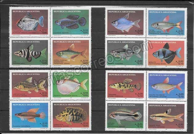 enviar paquetes desde - valor sellos filatelia serie fauna variada de peces