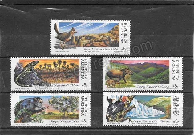 enviar paquetes desde - valor sellos filatelia fauna variada Argentina-1989-01