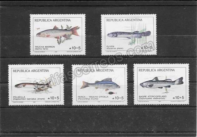 enviar paquetes desde - valor sellos filatelia fauna peces Argentina