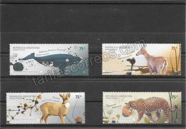valor y precio Colección sellos fauna parques naturales