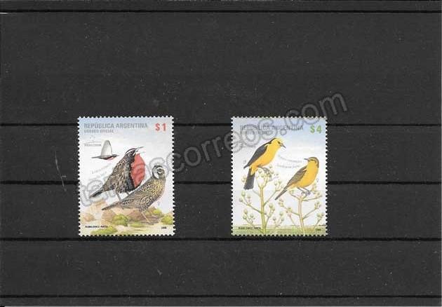 valor y precio Colección sellos fauna- aves
