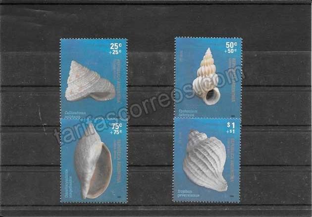 valor y precio Colección sellos fauna caracoles argentinos