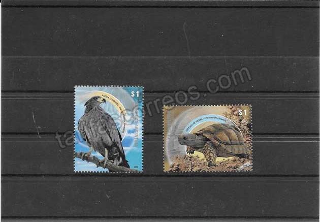 valor y precio Colección sellos fauna silvestre en peligro de extinción.