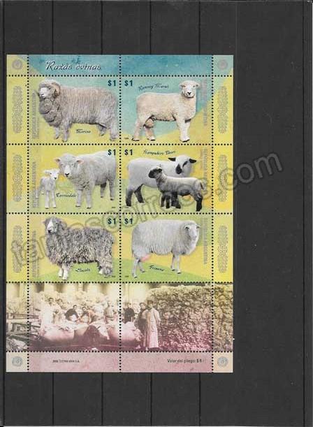 comprar Estampillas fauna razas ovinas