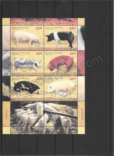 comprar Estampillas fauna razas porcinas Argentina