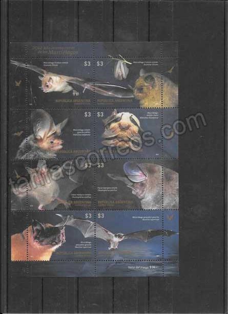 comprar Estampillas 2012 Año Internacional Murciélagos
