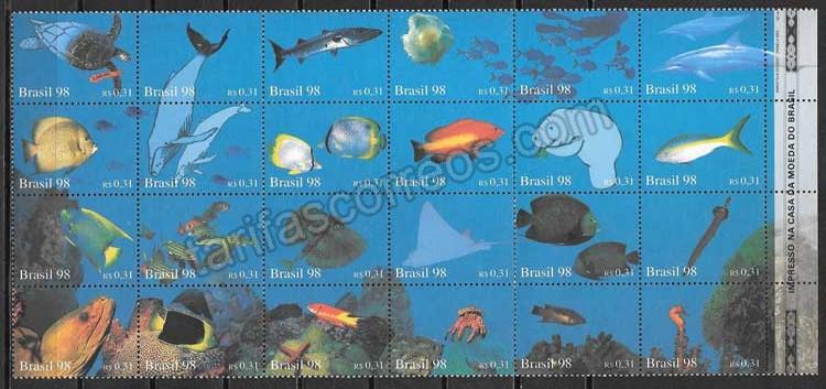 enviar paquetes desde - valor sellos fauna Brasil 1998
