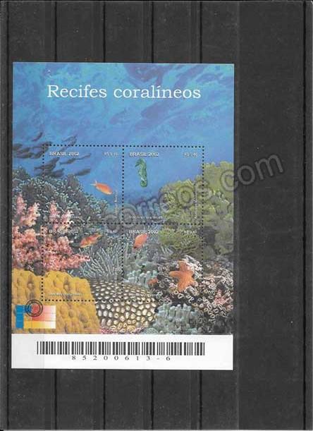 enviar paquetes desde - valor sellos filatelia fauna hojita de arrecifes de coral