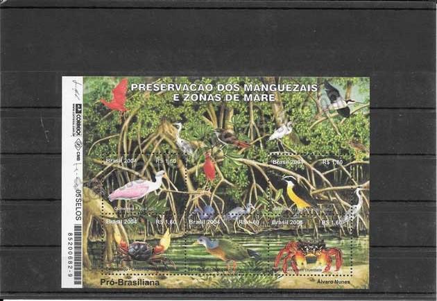enviar paquetes desde - valor sellos filatelia fauna hojita preservación de manglares