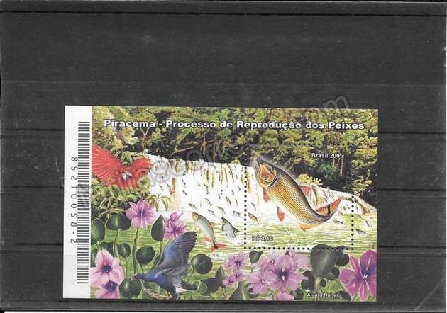 enviar paquetes desde - valor sellos filatelia fauna hojita de fauna y flora Brasil