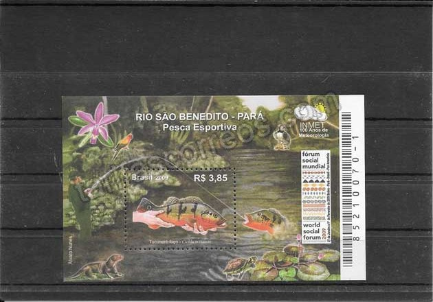 enviar paquetes desde - valor sellos hojita bloc de fauna marina