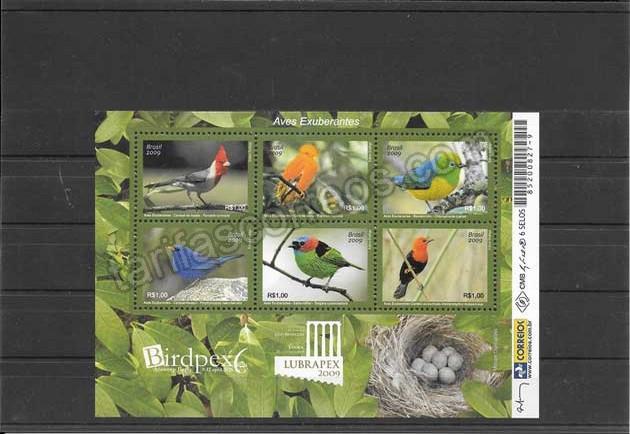 enviar paquetes desde - valor sellos hojita del tema fauna - aves