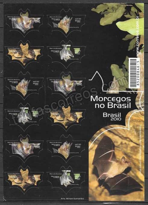 enviar paquetes desde - valor sellos fauna Brasil 2010
