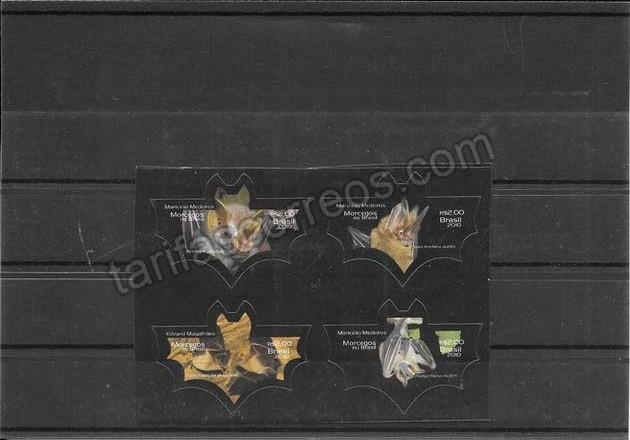 enviar paquetes desde - valor sellos fauna serie murciélagos de Brasil