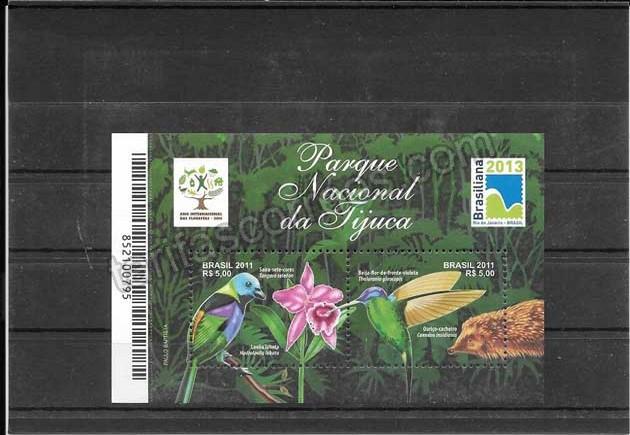 valor y precio Colección sellos fauna  parques nacional de Jijuca