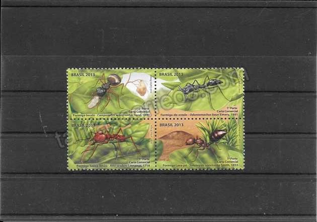 valor y precio Colección sellos  fauna - insectos - hormigas