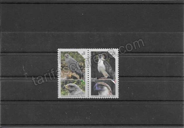 fColección sellos fauna- animales rapaces