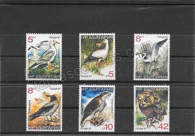 Sellos serie de fauna- pájaros Bulgaria