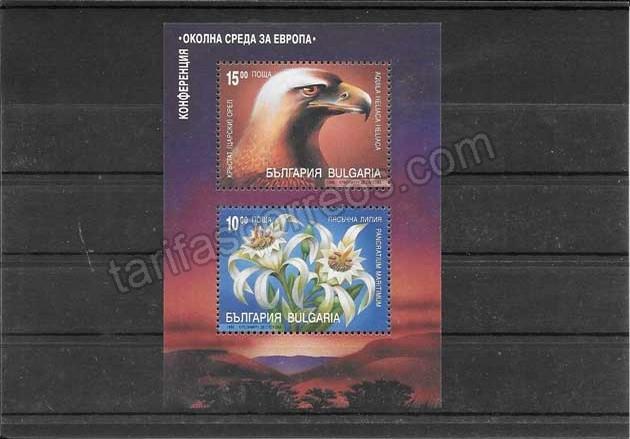 comprar Estampillas Bulgaria hojita de fauna y flora