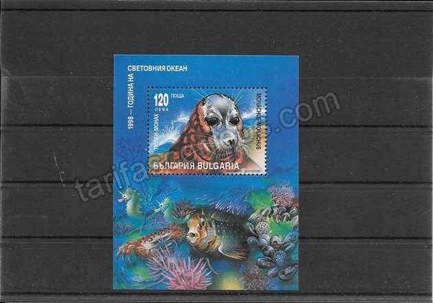 comprar Estampillas Bulgaria hojita bloc fauna foca