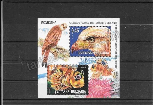 comprar Estampillas Bulgaria hojita bloc fauna. ecología
