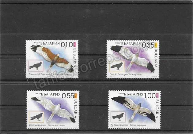 enviar paquetes desde - valor sellos filatelia Bulgaria  aves rapaces diurnas