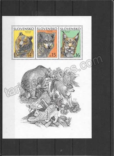 enviar paquetes desde - valor sellos Eslovenia fauna hojita de protección naturaleza