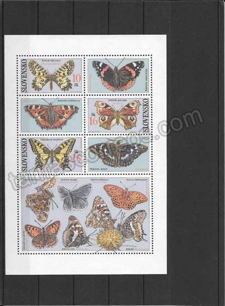 enviar paquetes desde - valor sellos filatelia fauna serie de mariposas Bielorrusia