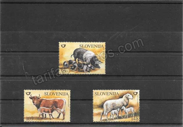 enviar paquetes desde - valor sellos fauna doméstica Eslovenia