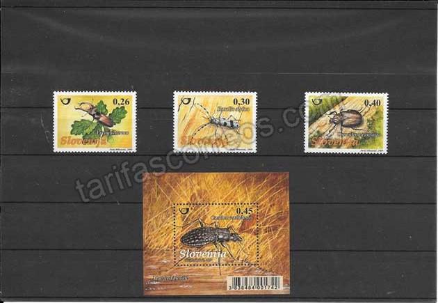 enviar paquetes desde - valor sellos y hojita de coleopteros