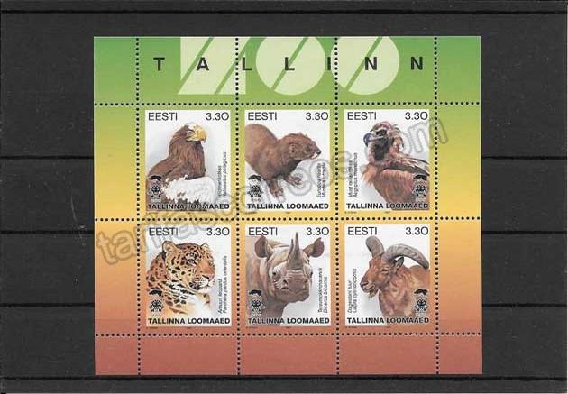 valor y precio Colección sellos hojita de fauna Estonia