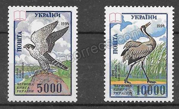 enviar paquetes desde - valor sellos fauna Ucrania 1995